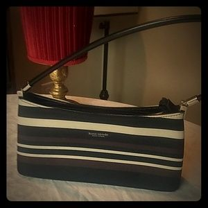 Kate Spade small handbag horizontal stripes